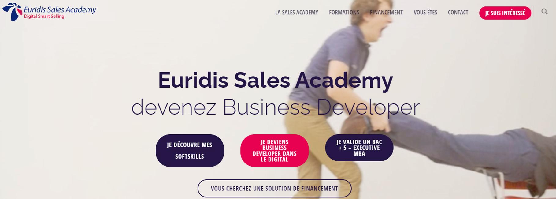 A découvrir les formations sur le site Internet d'Euridis Sale Academy